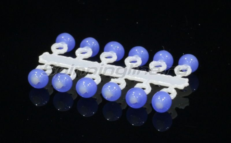 Микро-Бис Шар 2,3 мм сапфир неон -  1