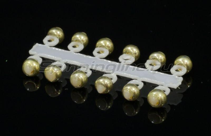 Микро-Бис Шар 2,3 мм металлик латунь -  1