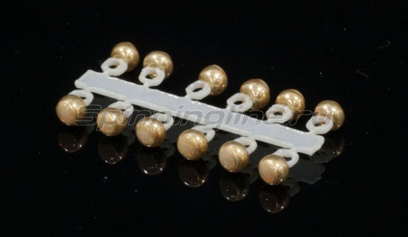 Левша-НН - Микро-Бис Шар 2,3 мм металлик золото - фотография 1