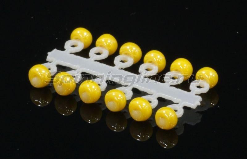 Микро-Бис Шар 2,3 мм перламутр желтый -  1