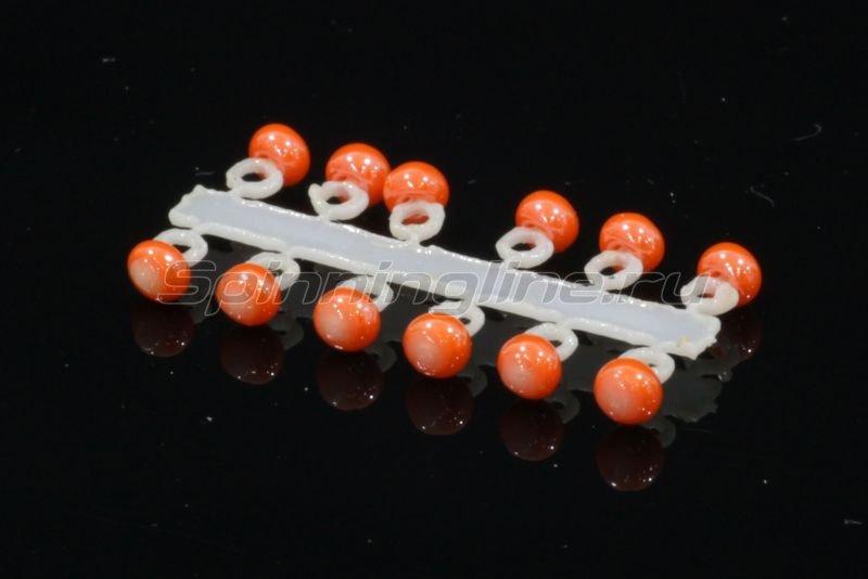 Микро-Бис Шар 2,3 мм перламутр оранжевый -  1
