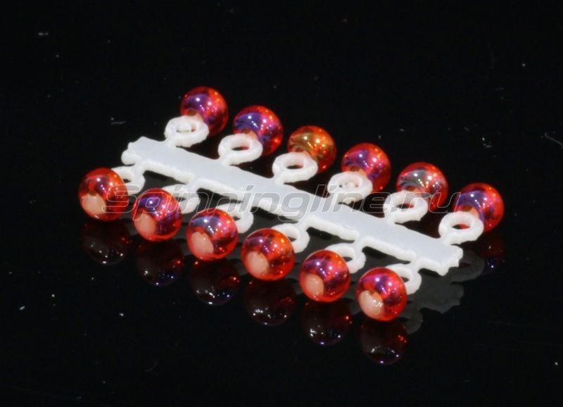 Микро-Бис Шар 2,3 мм ирис красный -  1
