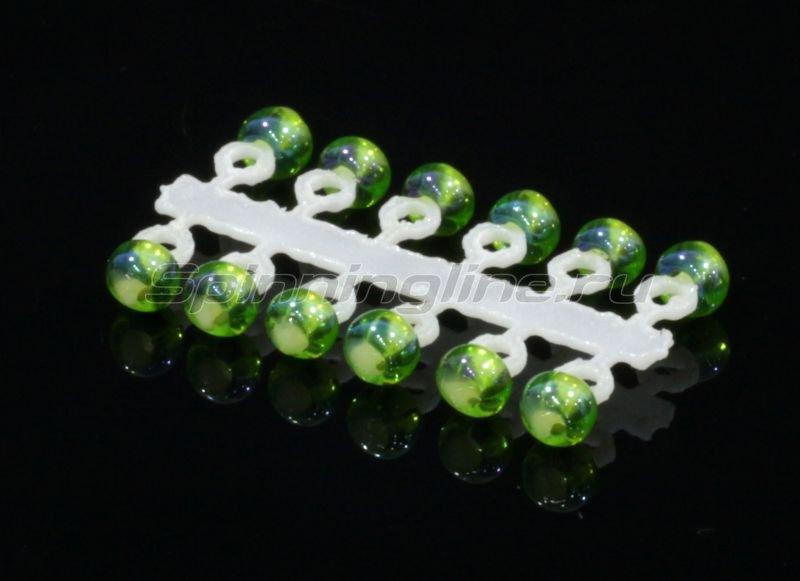 Микро-Бис Шар 2,3 мм ирис зеленый -  1