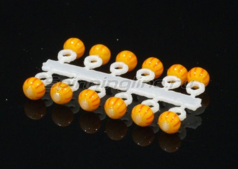 Микро-Бис Шар 2,3 мм желто-красный арбуз -  1