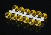 Микро-Бис Кристалл 4,2мм желтый прозрачный подвеска короткая