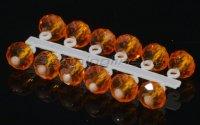 Микро-Бис Левша-НН Кристалл 4,2мм оранжевый прозрачный подвеска короткая