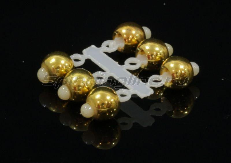 Микро-Бис Латунь 4 мм золото -  1