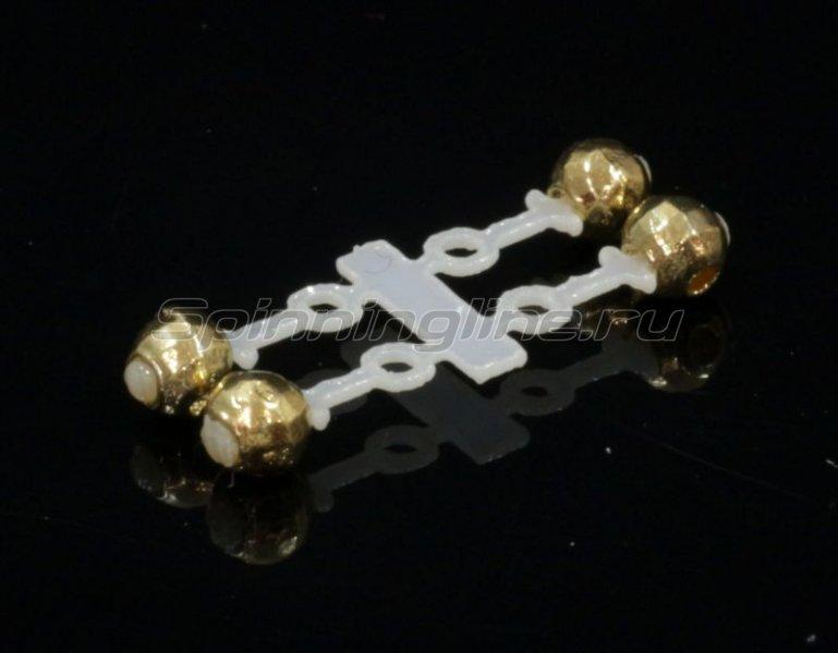 Левша-НН - Микро-Бис Вольфрам 3мм золото подвеска длинная - фотография 1