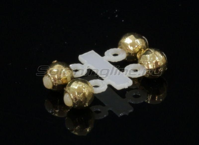 Левша-НН - Микро-Бис Вольфрам 3мм золото подвеска короткая - фотография 1