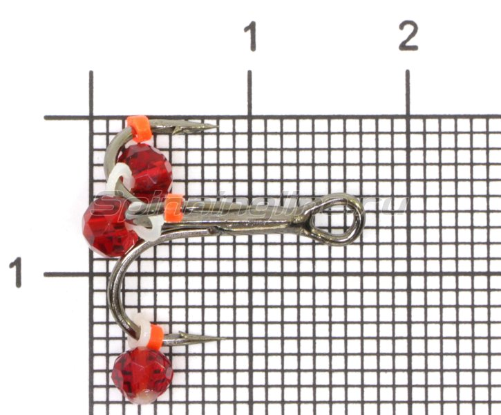 Левша-НН - Тройник-подвеска с бусинами Кристалл красный №8 - фотография 1