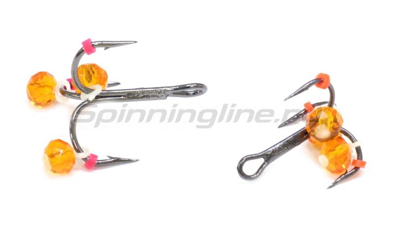 Тройник-подвеска с бусинами Кристалл оранжевый №10 -  2