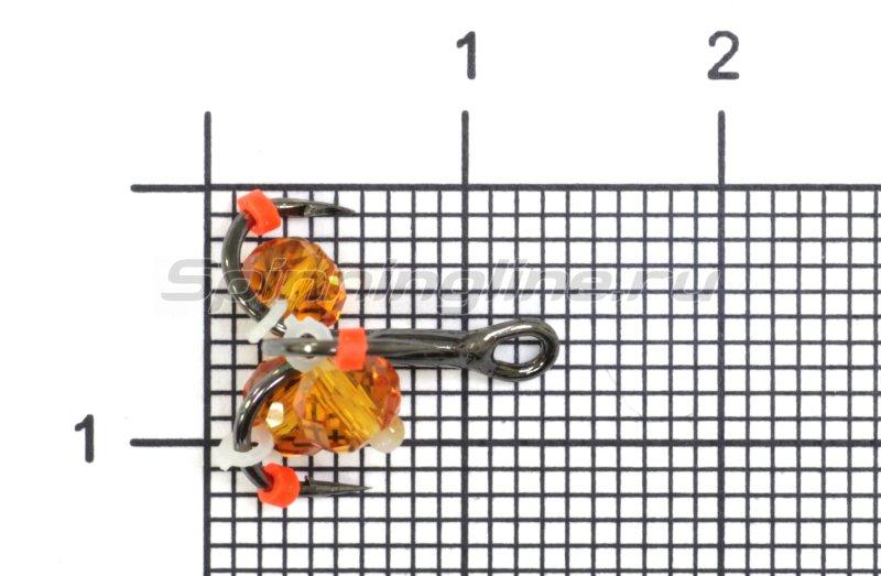Левша-НН - Тройник-подвеска с бусинами Кристалл оранжевый №12 - фотография 1