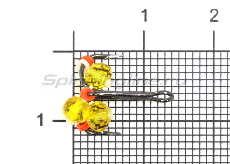 Левша-НН - Тройник-подвеска с бусинами Кристалл желтый №10 - фотография 1