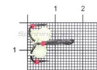 Тройник-подвеска с бусинами Шар светонакопительный 5 мм №8