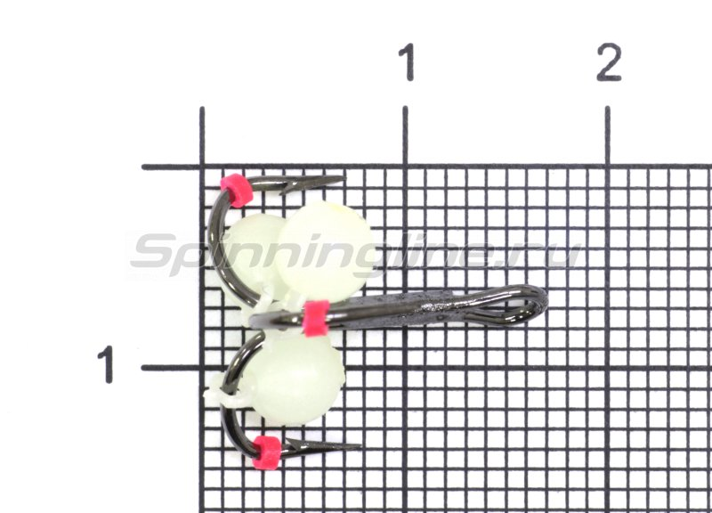 Тройник-подвеска с бусинами Шар светонакопительный 5 мм №8 -  1