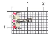 Тройник-подвеска с бусинами Шар светонакопительный 3 мм №12
