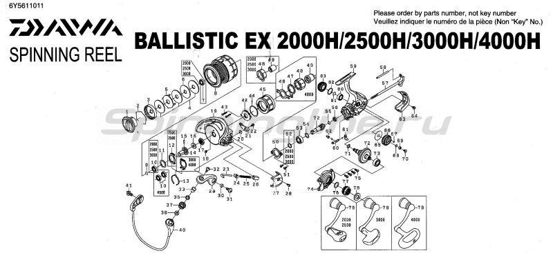 Daiwa - Катушка Ballistic EX 2000H - фотография 5
