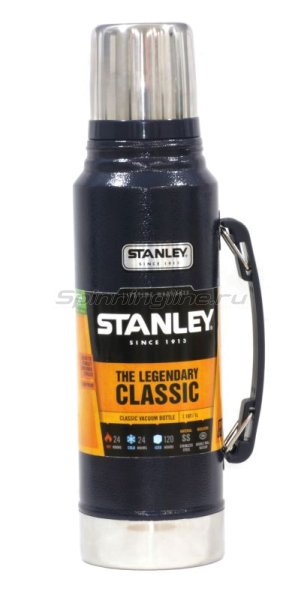Термос Stanley Classic Vacuum 1л. темно-синий - фотография 1