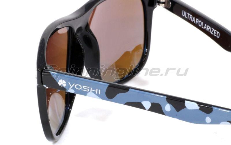 Очки Yoshi Onyx синий камуфляж/синие линзы - фотография 3