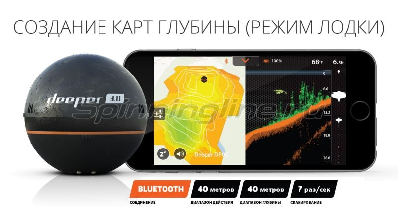 Эхолот Deeper Smart Fishfinder 3.0 (Bluetooth) - фотография 5