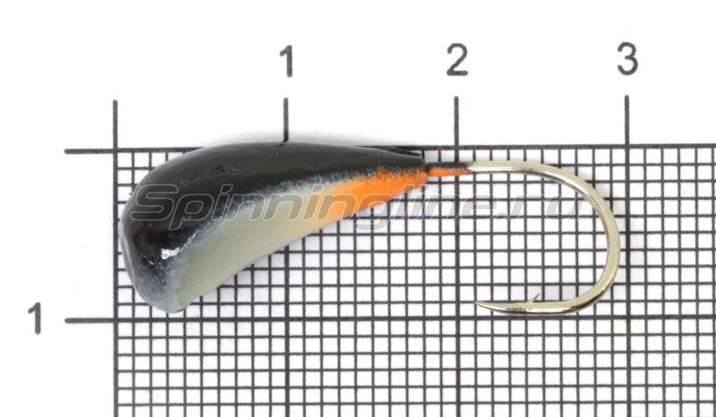 Fish Gold - Мормышка судаковая Трехгранка Светлячок кр. Gamakatsu 6 гр 01 черный - фотография 1