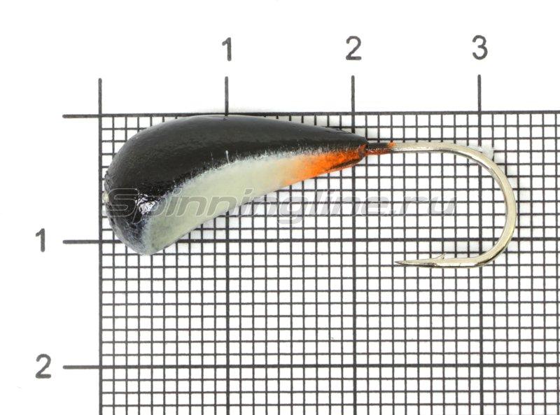Fish Gold - Мормышка судаковая Трехгранка Светлячок кр. Gamakatsu 8гр 01 черный - фотография 1