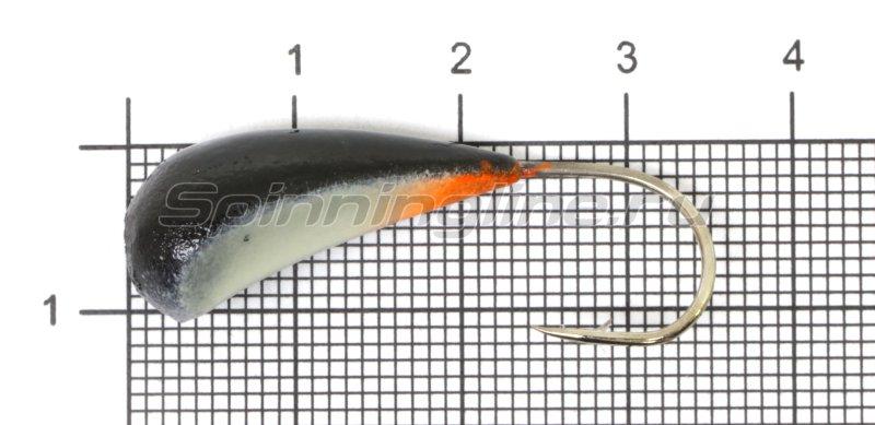 Fish Gold - Мормышка судаковая Трехгранка Светлячок кр. Gamakatsu 10гр 01 черный - фотография 1