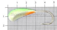 Мормышка Fish Gold судаковая Трехгранка Светлячок 18гр кр.Gamakatsu 08 зеленый