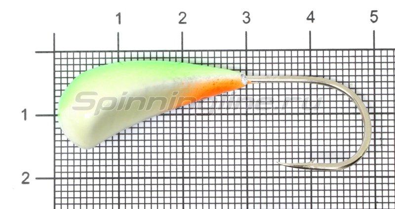 Fish Gold - Мормышка судаковая Трехгранка Светлячок 19гр кр.Gamakatsu 08 зеленый - фотография 1