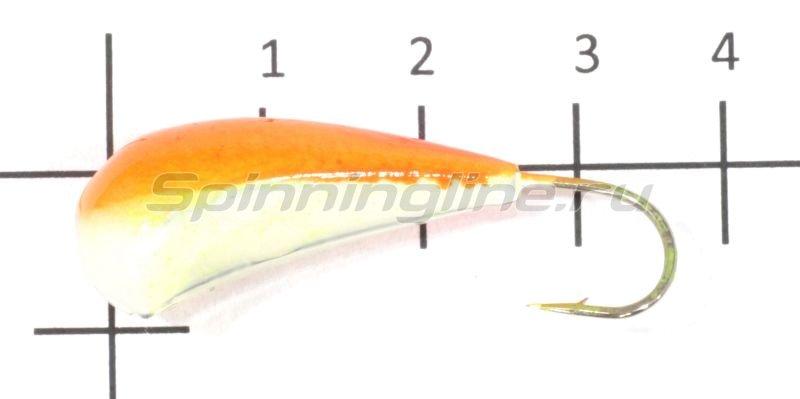 Fish Gold - Мормышка судаковая Трехгранка Светлячок 18гр кр.Gamakatsu 09 оранжевый - фотография 1
