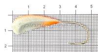 Мормышка Fish Gold судаковая Трехгранка Светлячок 18гр кр.Gamakatsu 10 красный