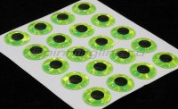 Наклейка 3 D Stick On Lure Eyes Chartreuse Prism диам.0,7см
