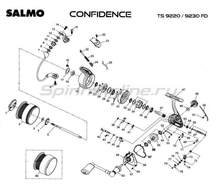 Катушка Confidence 11+1 20FD -  6