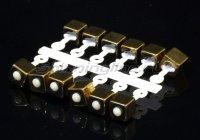 Микро-Бис Куб 2,8мм золото подвеска длинная