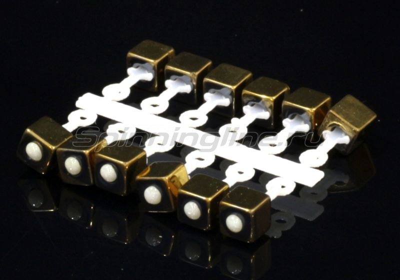 Левша-НН - Микро-Бис Куб 2,8мм золото подвеска длинная - фотография 1