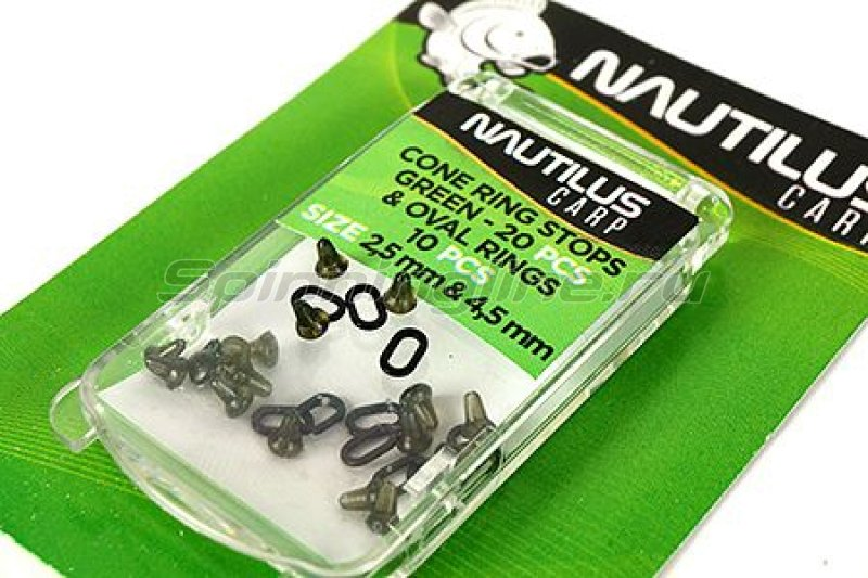 Nautilus - ������ ���������� Cone Ring Stops With Oval Ring Green - ���������� 1