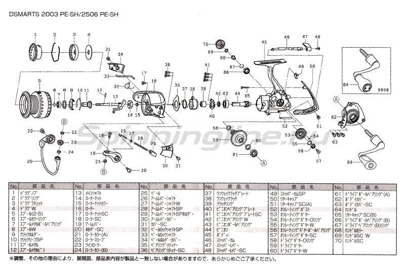 Катушка D-Smarts 2003 PE SH -  7