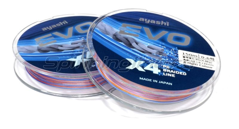 Шнур Ayashi Evo-X4 150м 0,132мм multi -  2
