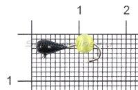 Мормышка Капля Кошачий глаз d3.2 желтый