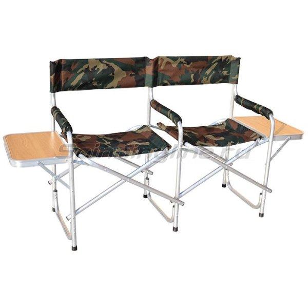 Кедр - Кресло AK-07 складное двойное со столиком - фотография 1