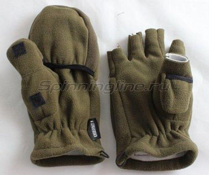 Перчатки-варежки Следопыт р.XL хаки - фотография 1