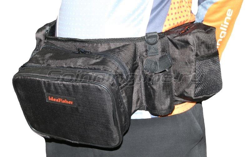Поясная сумка+2 стакана Stakan-8 черный -  1