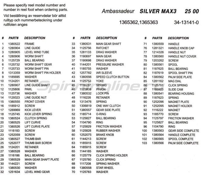 Катушка Ambassadeur Silver Max Low Profile new -  7