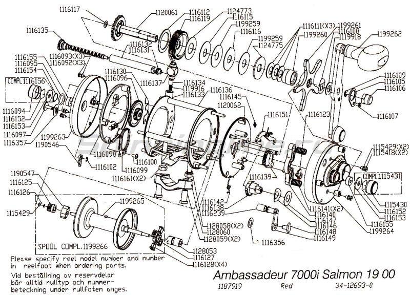 Катушка Ambassadeur 7000i Salmon Special -  5