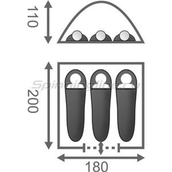 Палатка Моби 3 Олива -  2