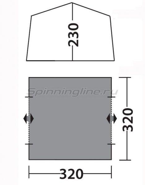 Тент Веранда комфорт V2 зеленый -  3