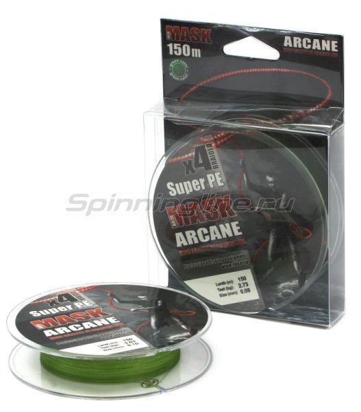 Akkoi - Шнур Mask Arcane X4 Green 150м 0,18мм - фотография 1