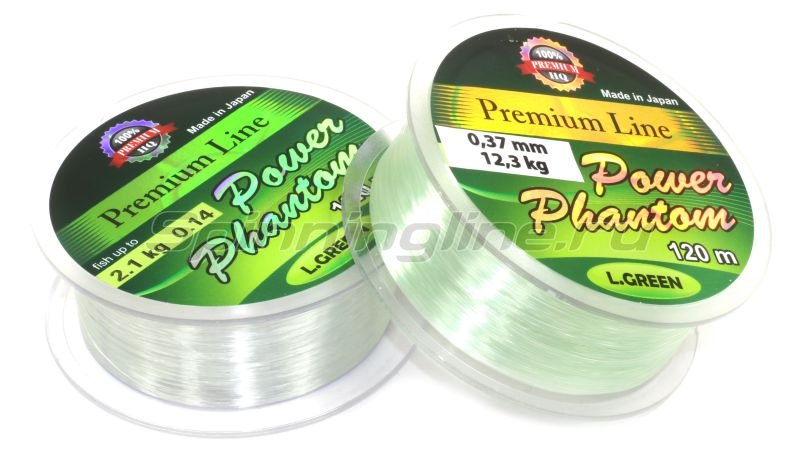 Леска Power Phantom Green 120м 0,27мм - фотография 1