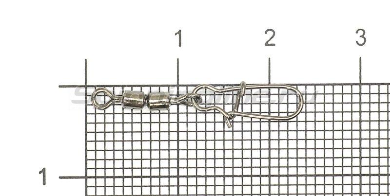 Вертлюг цилиндр двойной с застежкой Duo-lock №10x00 Bz -  1