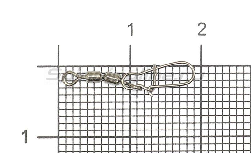 Вертлюг цилиндр двойной с застежкой Duo-lock №12x000 Bz -  1
